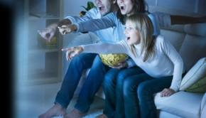 Heisser dreier beim Film sehen